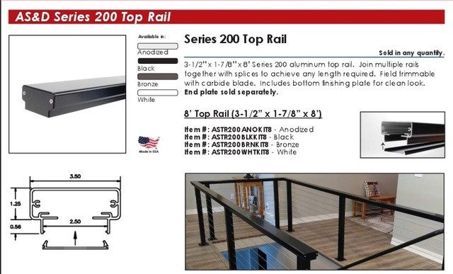 AS&D Series 200 Cable Railings