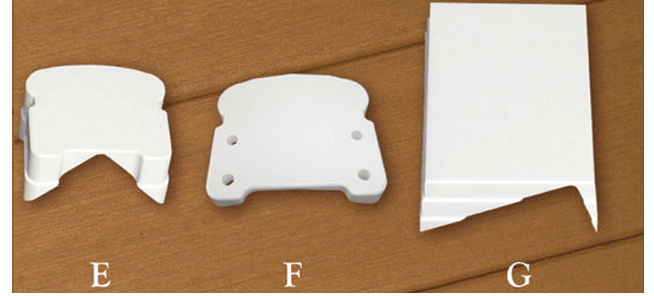 Fairway Vinyl Railing Brackets and Adapters