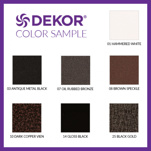 DeKor Color Chart