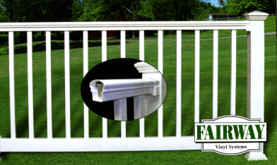 Fairway Contour Vinyl Railings w/ Square Balusters