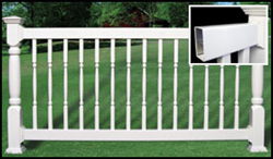 Fairway Standard Vinyl Railing w/Turned Balusters