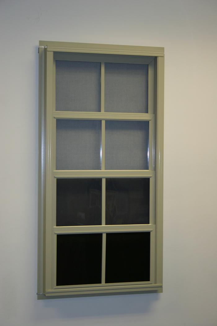 Aluminum Vertical Stacking Windows w/Memory vinyl vents