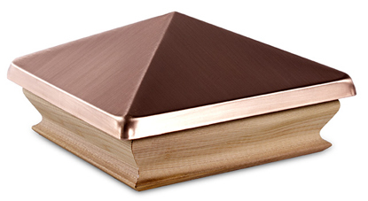 Woodway Large Copper Pyramid Post Cap