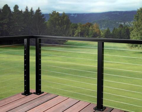 AS&D Aluminum and Cable Railings System - Black