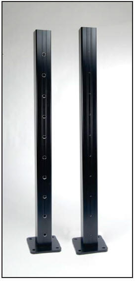 AS&D Aluminum Posts for Cable Rail - Black
