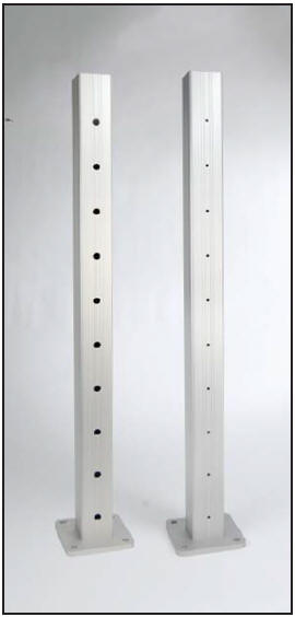 AS&D Aluminum Posts for Cable Rail - Anodized