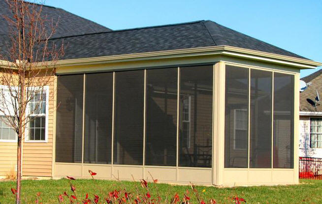 Aluminum Screened Porch - Kick Panel Model