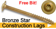 star drive construction lag screws