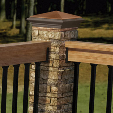 Deckorators Beige Stacked Stone Post Cover