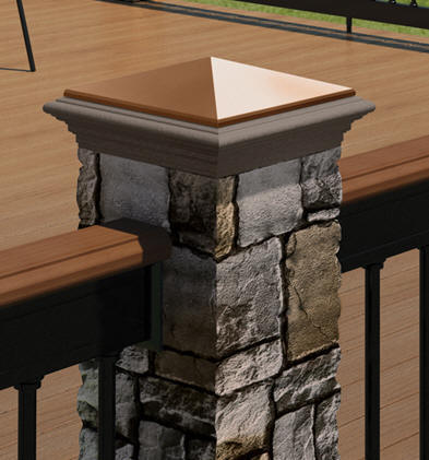 Deckorators Gray Cobblestone Post Cover