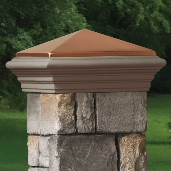 Deckorators Stone Column Sleeve Cap - Copper Cast
