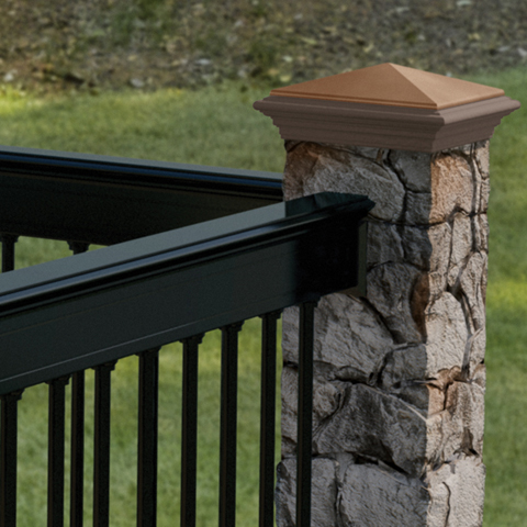 Deckorators Gray Fieldstone Post Cover
