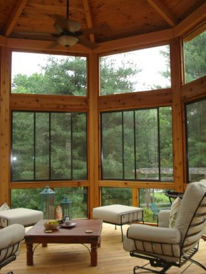 Riviera Slider Windows with Fixed Glass Storms