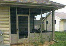 Aluminum Screened Porch - Sliding Glass Window Model