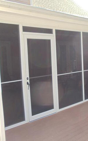 Aluminum Screened Porch - Screen Door Panel