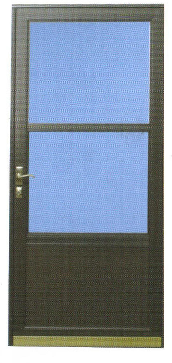 Aluminum Screened Porch - Self Storing Storm Door