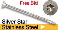 silver star stainless steel star drive wood screws