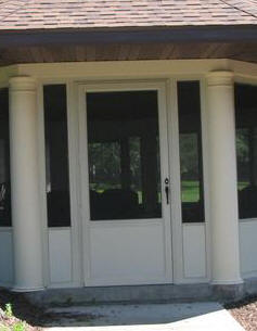 Aluminum Screened Porch - Storm Door Panel