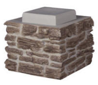 Faux Stone Stack Section