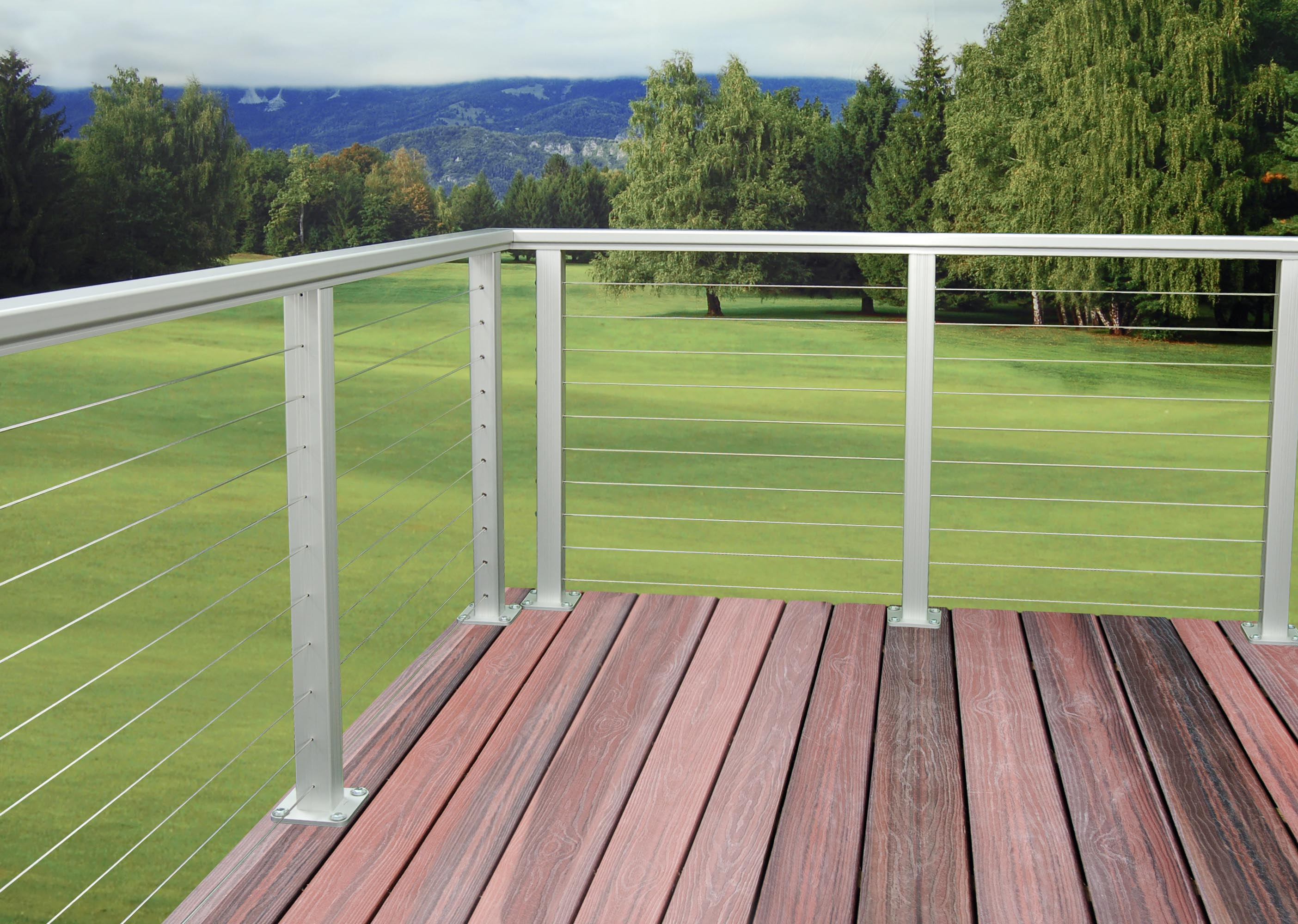 Uncategorized Deck Cable Railing as d aluminum railing cable rail system asd and railings anodized