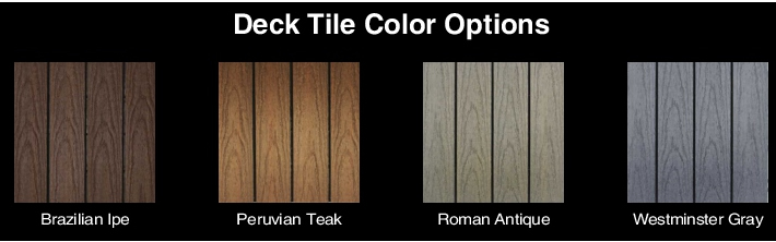 NewTechWood Composite Deck Tiles Color