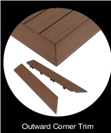 NewTechWood Composite Deck Tiles Outside Corner
