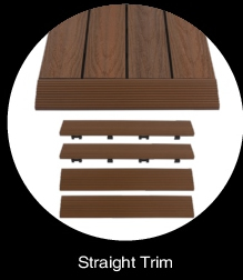 NewTechWood Composite Deck Tiles Straight Edge