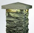 NextStone Faux Stone Post Cover Cap Lighted
